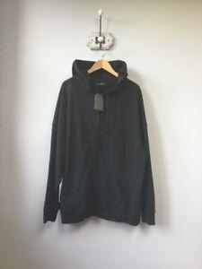 BNWT Men's AllSaints Spitalfields Black Anark Zip Up Hoodie/Jacket, UK Size Larg