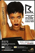 "RIHANNA ""DIAMONDS WORLD TOUR"" 2013 MACAO CONCERT POSTER - Pop, R&B, Reggae Music"