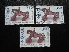 NORVEGE - timbre yvert et tellier n° 928 x3 obl (A04) stamp norway
