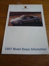 Porsche 911 y Boxster FOLLETO 1997