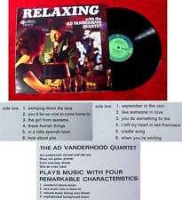 LP Ad Vanderhood Quartet: Relaxing with...