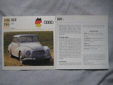 DKW 1000 & F1 Collectors Classic Car Cards