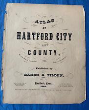 New Listing9 Hartford Atlas Area Large Maps 1869 Rocky Hill East Windsor Farmington Etc