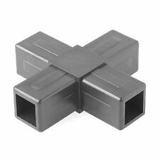 Connect-It 4-Way Plastic Flat Joiners for Racks, Stands, Tables, Fixtures, 5Pc