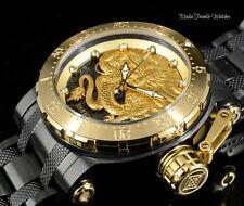 Invicta Men's 52mm Coalition Forces GOLD Dragon AUTOMATIC BLACK Bracelet Watch