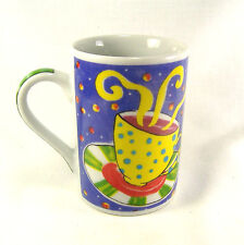 Tabletops Unlimited Invitations Coffee Cup Mug Hand PainteMulti-Colored