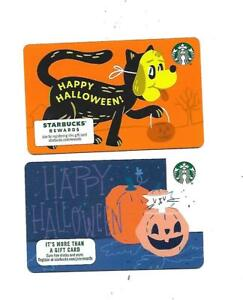 2 Starbucks Gift Cards  Collectible  --- Halloween ---