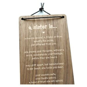 A Sister Is.. Stunning Gift For A Sister. Wooden Plaque. Inspirational Present