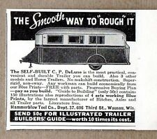 1935 Print Ad C.P. Deluxe Travel Trailer Kits Hammerblow Tool Wausau,WI