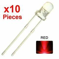 Lot de 10  LED rouge ultra-brillante de 3 mm excellent qualité fabriqué au Japon
