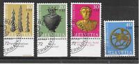 i219 SCHWEIZ/ Pro Patria 1972-Kunst MiNr 971/74 o