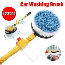 Car Wash Brush Extendable Pole Revolving Care Washing Brush Sponge Cleaning Tool