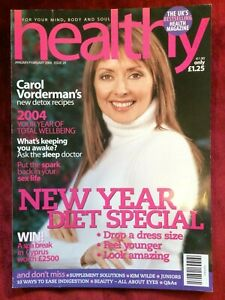 HEALTHY magazine January 2004 CAROL VORDERMAN + KIM WILDE interview (UK)