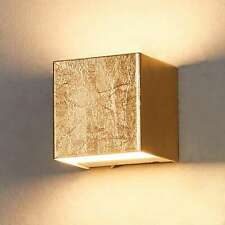 LED Wandleuchte Quentin Goldfarben Goldfinish Wandlampe LED Flur Lampenwelt