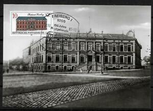 GDR Mk Maximum Card With Minr 3067 Historical post Office Building Freiberg 1987