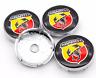 Fiat Abarth Logo 4x 60mm Schwarz Chrome Allufelge Nabenkappen Nabendeckel Satz