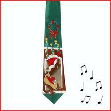 Novelty Musical Christmas Tie - Plays Jingle Bells - TAZ Fireplace