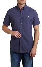 Polo Ralph Lauren Herren Hemd Custom Fit kurzarm Navy blau Gr.S