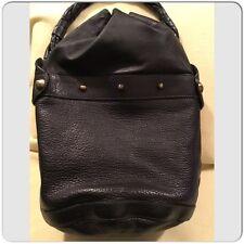 Fendi Palazzo Gold and Black leather Drawstring Large Bucket Hobo Shoulder Bag