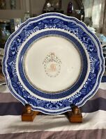 antique chinese export armorial Plate Qianlong Period.