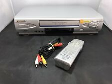 Panasonic Pv-V4524S Vcr Video Cassette Vhs Tape Player w/ Remote & Cables Clean