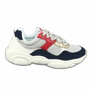 Lee Cooper W-1275 Women white red navy blue grey multicolored