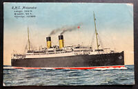 1915 Shorncliffe Camp England Picture Postcard Cover To Canada RMS Missanabie