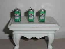 BEER CAN CHARMS 3 MINI (HEINEKEN) BEER CAN CHARMS / DOLL HOUSE CANS
