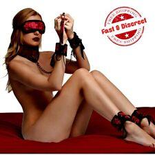 Frisky Red Dragon 5 Piece Satin Bondage Set Restraints Kit BDSM Dungeon Gear