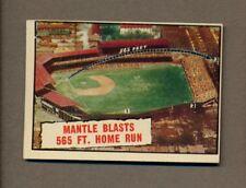 1961 Topps Baseball Thrills #406 Mickey Mantle Blast HR EXMT OC *2545