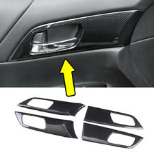 ABS Carbon Fiber Style Door Inner Handle For HONDA ACCORD 2014-2017