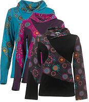 New Colour Fashion size 8 - 14 Purple Logan Black  Ethnic Boho Hippy Print Top