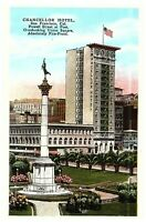 Chancellor Hotel Union Square Powell & Post St. San Francisco CA Postcard