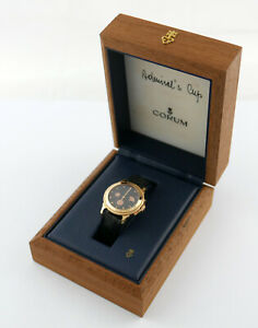 CORUM Admiral's Cup Gold 750 Reserve Date Automatik 34mm full set Box Papiere