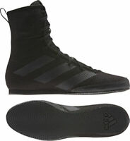Adidas Box Hog 3 Black Boxing Boots Mens Sports Shoes Trainers Sizes 3.5 -14