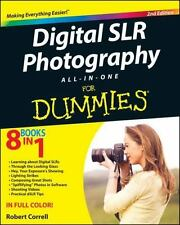 Digital SLR Photography All-in-One For Dummies, Correll, Robert, Good Condition,