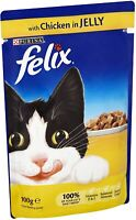 Felix Cat Pouches Chicken In Jelly 100g 20 Pouches