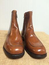 NOS Vintage MASON Cognac Beatles Rocker Biker Rider Leather Chukka Boots Men 11