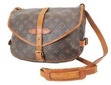 Authentic LOUIS VUITTON Saumur 30 Monogram Crossbody Shoulder Bag Purse #37098