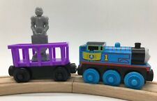 Wooden Railway Royal Crest Thomas Knight Statue Purple Cargo Car Train Set Lot