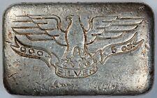 W. H. Foster Inc 5 oz .999 Silver Bar Type 2 Eagle, Deak Perera, Star Hallmarks