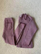 Zara Girls 4-5 Years Mauve Ruffle Knit Ribbed Jumper Leggings Set