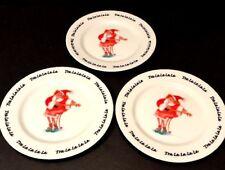 Set of 3 Erika Oller House of Prill Tra La La Dessert Plates 2000 Christmas Euc