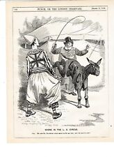 1897 Punch Cartoon LCC Donkey Circus Clown Salisbury
