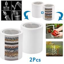 2Pcs Shower Head Filter Cartridge 18 Stage Chlorine Hard Water Softener Purifier