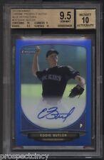 Eddie Butler 2013 Bowman Chrome BLUE Auto #/150 RC BGS 9.5/10 - Chicago Cubs SP