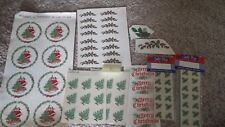 Ceramic Decals lot   ChristmasTrees, Holly and Santas B