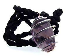 Amethyst Gemstone Crystal Spiral Pendant