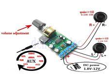 DC1.8-12V TDA2822M Amplificatore Stereo 2.0 Canale Aux Audio Amp Bordo Modulo DB