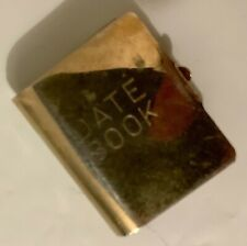 Vintage Miniature Metal 'Date Book' Book w Pages